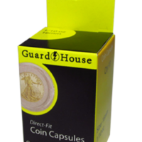 1/10 oz Gold Eagle Direct-Fit Coin Capsules - 10 Pack