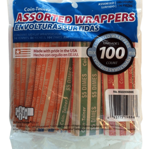 100 Mixed Flat Coin Wrappers
