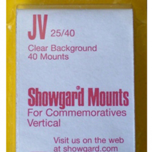 25x40mm Showgard Mounts - Pre-cut Singles (Clear)