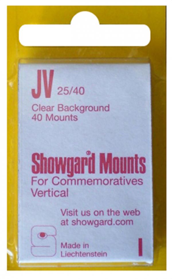 25x40mm Showgard Mounts - Pre-cut Singles (Clear)