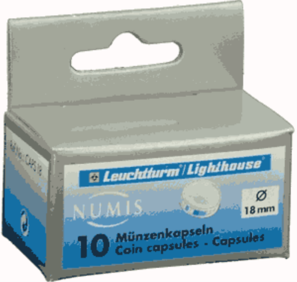 18mm - Coin Capsules (pack of 10)