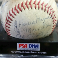 HONUS WAGNER PSA DNA 1936 Pirates Team SIGNED BASEBALL 4 HOF