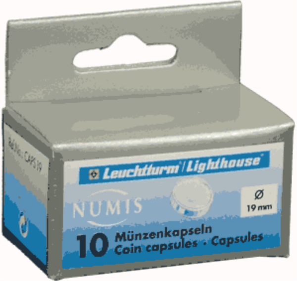 19mm - Coin Capsules (pack of 10)