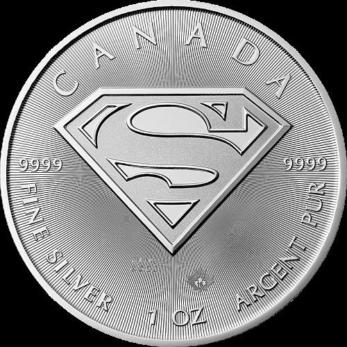 1oz Canadian Silver Superman