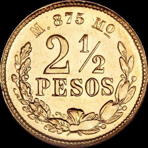 $2 1/2 Gold Mexican Peso