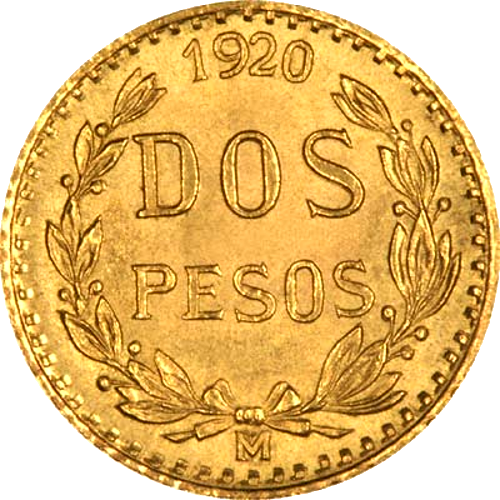 $2 Gold Mexican Peso