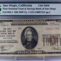 $20 San Diego CA FR#1802