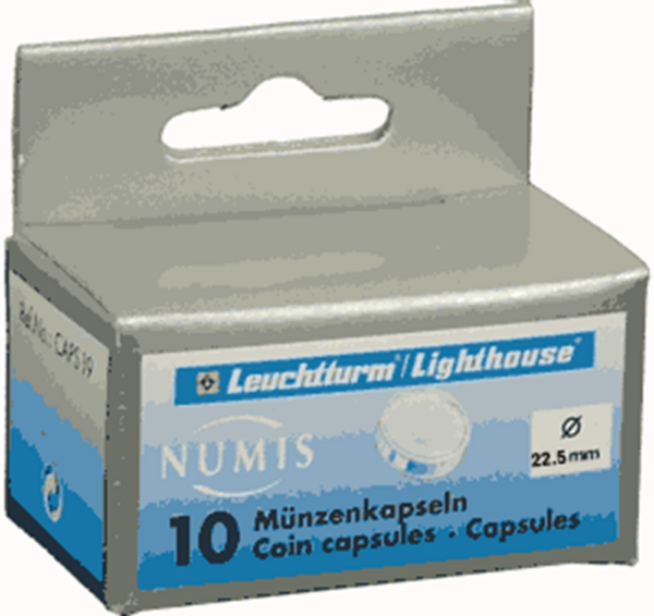 22.5mm - Coin Capsules (pack of 10)