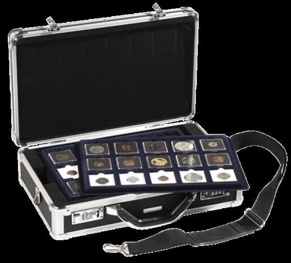 3-6 Tray Black Aluminum Attache Case