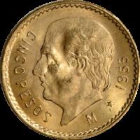 $5 Gold Mexican Peso
