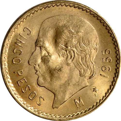 $5 Gold Mexican Peso