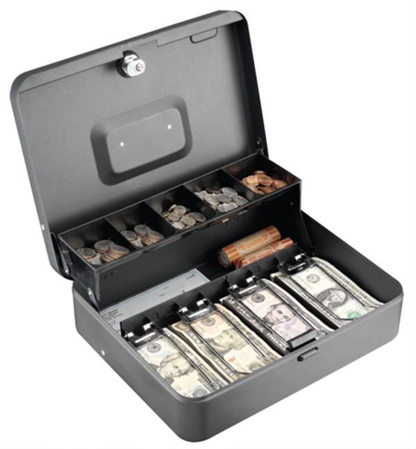 Anti—Theft Security Tiered Cash Box with Bill Weights