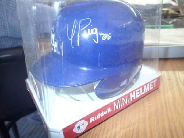 Autographed Mini Riddell Baseball Helmet