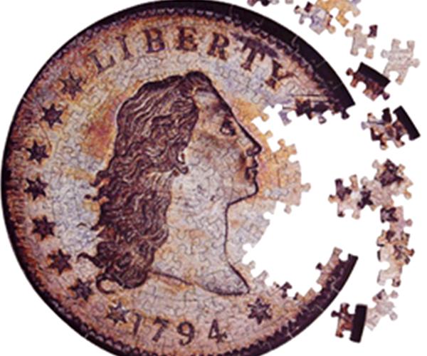 Coin Puzzle Contursi 1794 Silver Dollar
