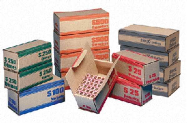 Coin Roll Shipper Box – Quarter Bulk