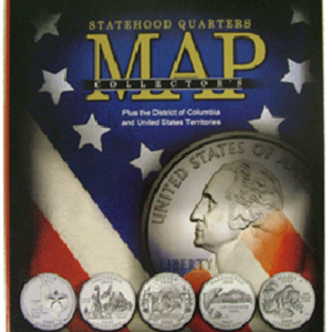 Compact Version State Quarters Collectors Map