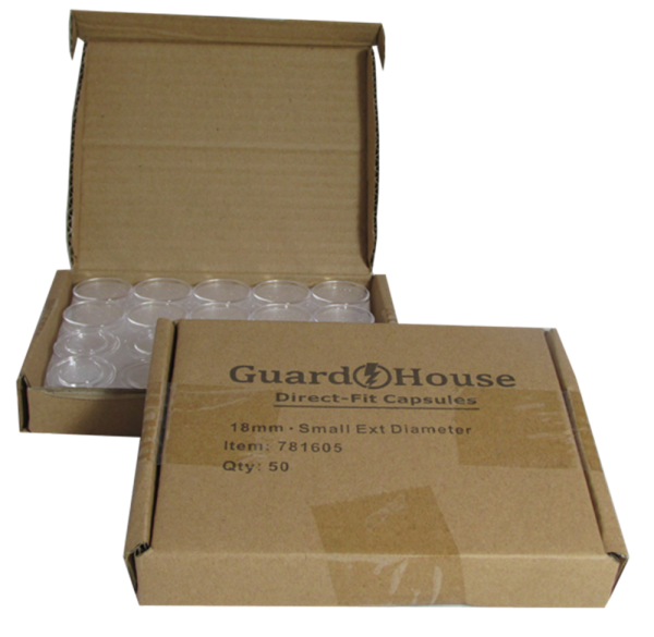Dime 18mm Direct-Fit Guardhouse coin holders – (S dia) / 50 per box.