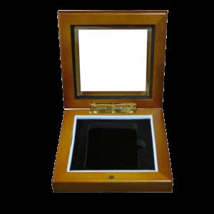 Wood Glass-top Display Slab Box - 1 Slab Universal
