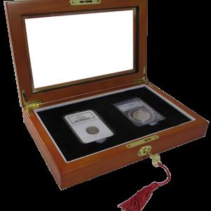 Wood Glass-top Display Slab Box - 2 Slab Universal