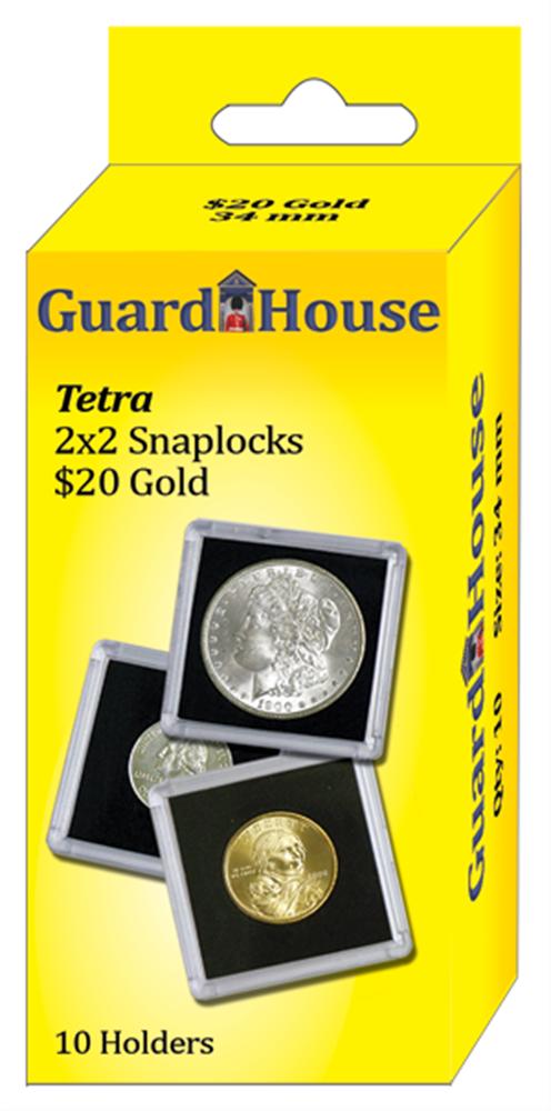 20 Dollar Gold Tetra Snaplock - 10 per pack