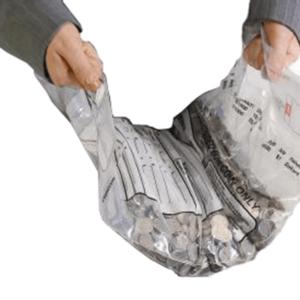 Double Handle Tamper Evident Money Bag
