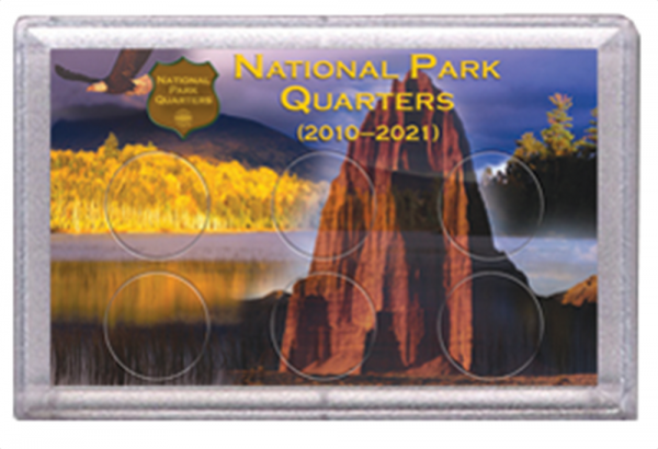 National Parks Rock and Eagle Design Frosty Case - 6 Hole
