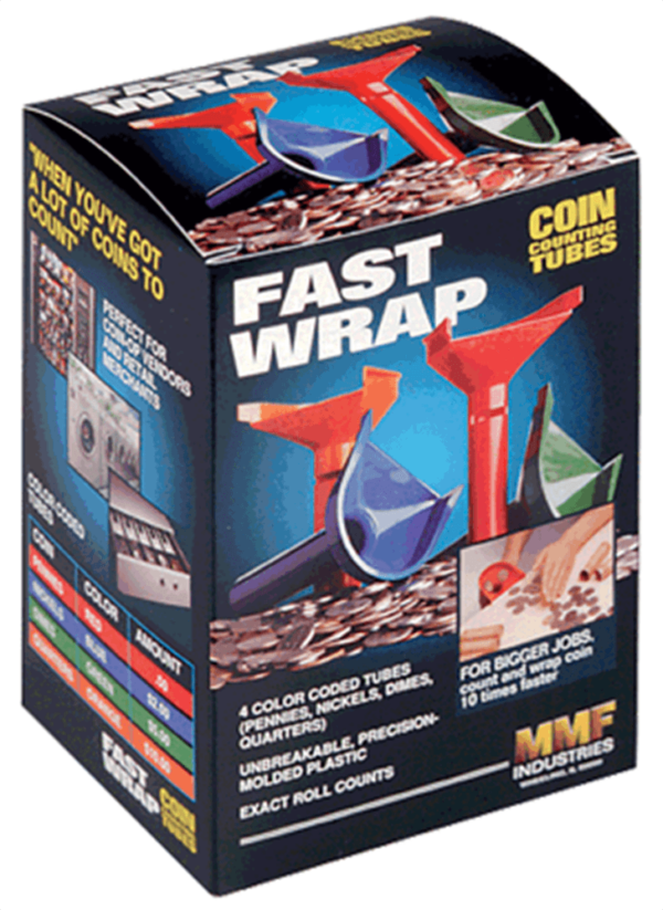 Fast Wrap – Coin Counting Tubes 1c-25c