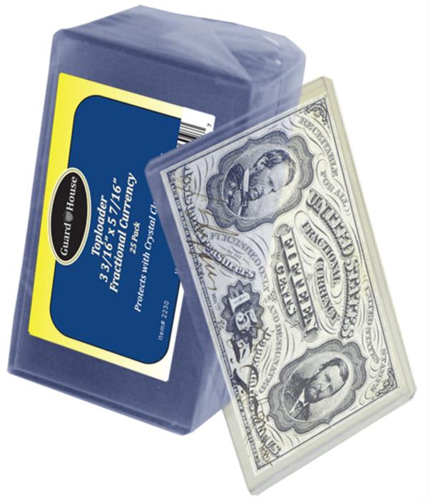 Fractional Currency Toploader – 3 3/16×5 7/16