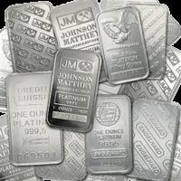 1oz Generic Platinum Bars