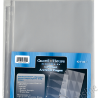 Guardhouse Shield 1 Pocket Archival (10 pack) Polypropylene Pages