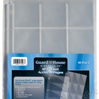 Guardhouse Shield 12 Pocket (10 pack) Archival Polypropylene Pages