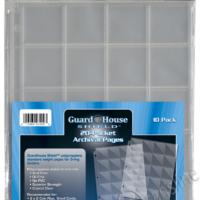 Guardhouse Shield 20 Pocket. (10 pack) Archival Polypropylene Pages