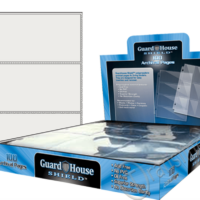 Guardhouse Shield 3 Pocket (100 pack) Archival Polypropylene Pages