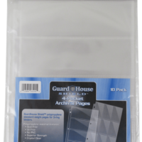 Guardhouse Shield 4 Pocket Archival (10 pack) Polypropylene Pages