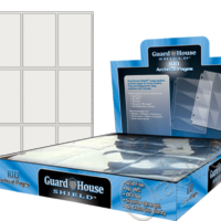 Guardhouse Shield 9 Pocket (100 pack) Archival Polypropylene Pages