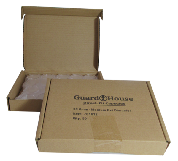 Half Dollar 30.6mm Direct-Fit Guardhouse coin holders - (M dia) / 50 per bo