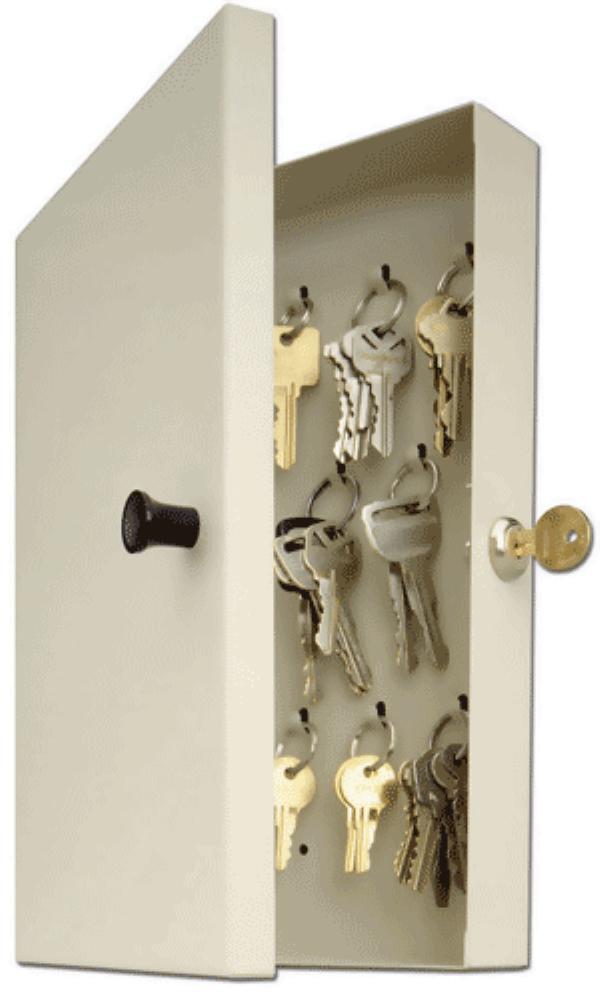 14 Key Hook—Style Key Cabinet
