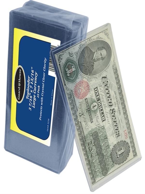 Large Currency Toploader – 3 7/16×7 13/16
