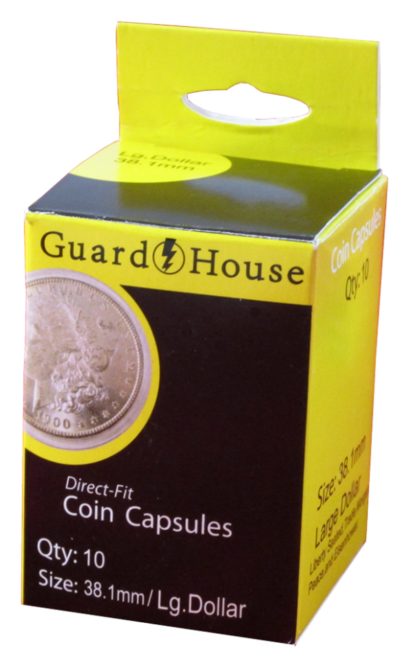 Large Dollar (38.1mm) Direct-Fit Coin Capsules – 10 Pack