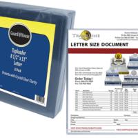 Letter Size Toploader - 8 1/2x11