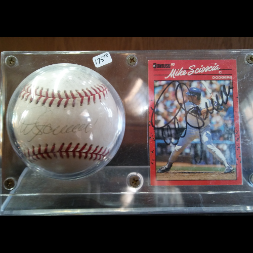 Dodgers Mike Scioscia Autographed Baseball