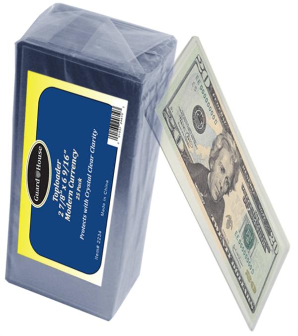 Modern Currency Toploader – 2 7/8×6 9/16