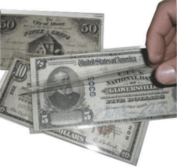 Museum Grade Fractional Currency Holder