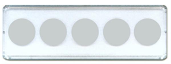 2x6 Nickel Strip 5 Hole - 25/pack