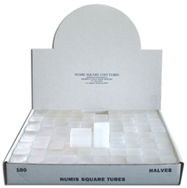 Numismatic Half Dollar Square Tube – 100/bx
