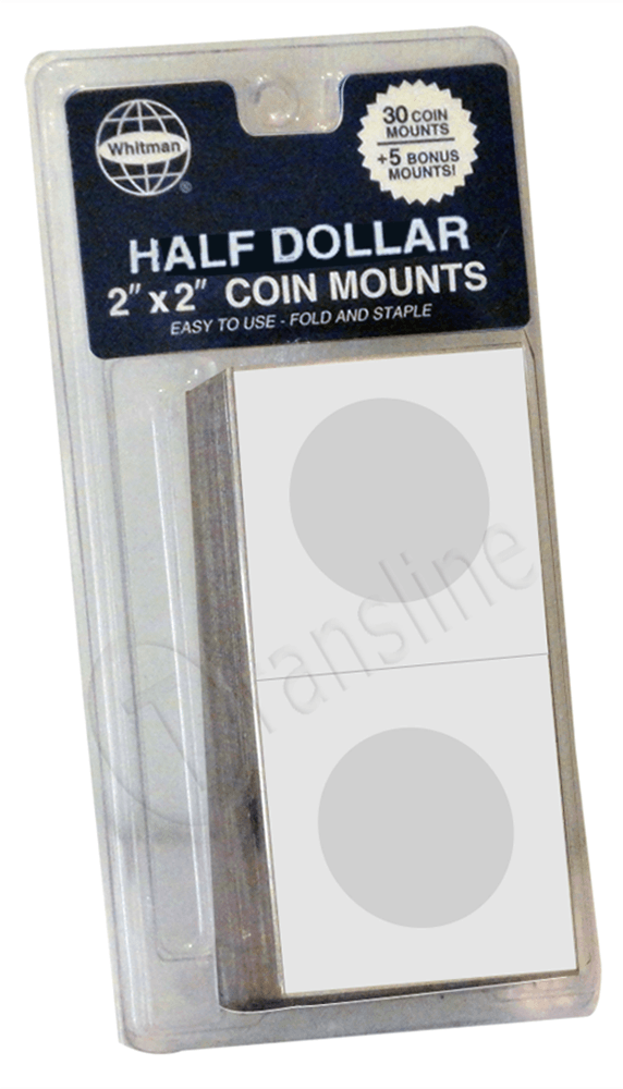 Paper Coin Mounts – Half Dollars Paper Holder