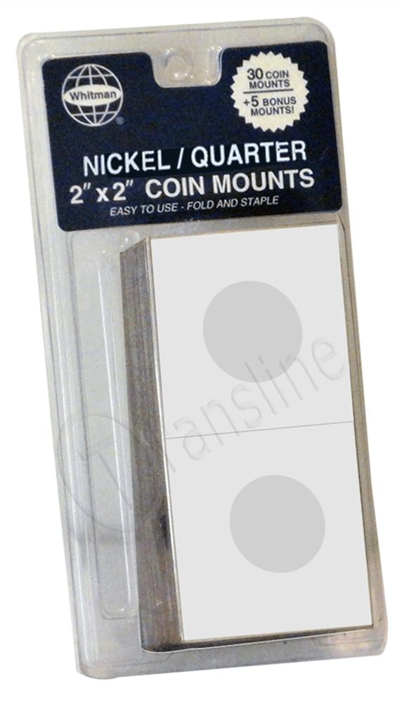 Paper Coin Mounts – Nickel/Quarter Paper Holder