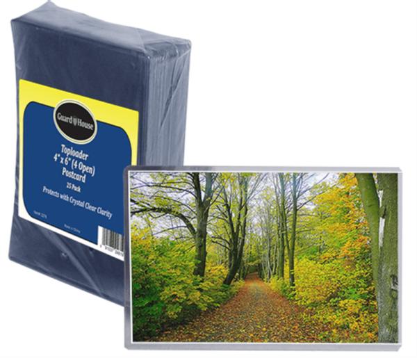 Photo, Postcard Toploader – 4×6 (4 open)