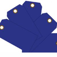 Plain Eye-Loop ID Tags Blue