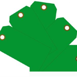 Plain Eye-Loop ID Tags Green